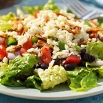 Black Bean, Veggie and Taco Salad with Lime Vinaigrette