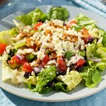 Black Bean, Veggie and Taco Salad with Lime Vinaigrette