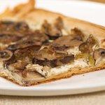 Cheesy Mushroom and Leek Phyllo Tart