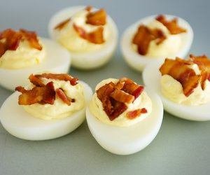 Bacon and Cheese Deviled Eggs
