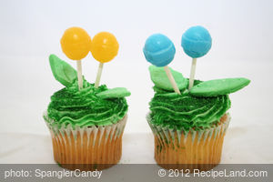 Spring Cupcake Toppers with Dum Dums