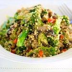 Quinoa with Asparagus, Celery and Mushrooms