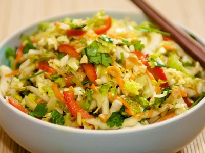Slaw with Maple-Soy Dressing