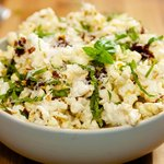 Popcorn with Basil and Sun-Dried Tomatoes