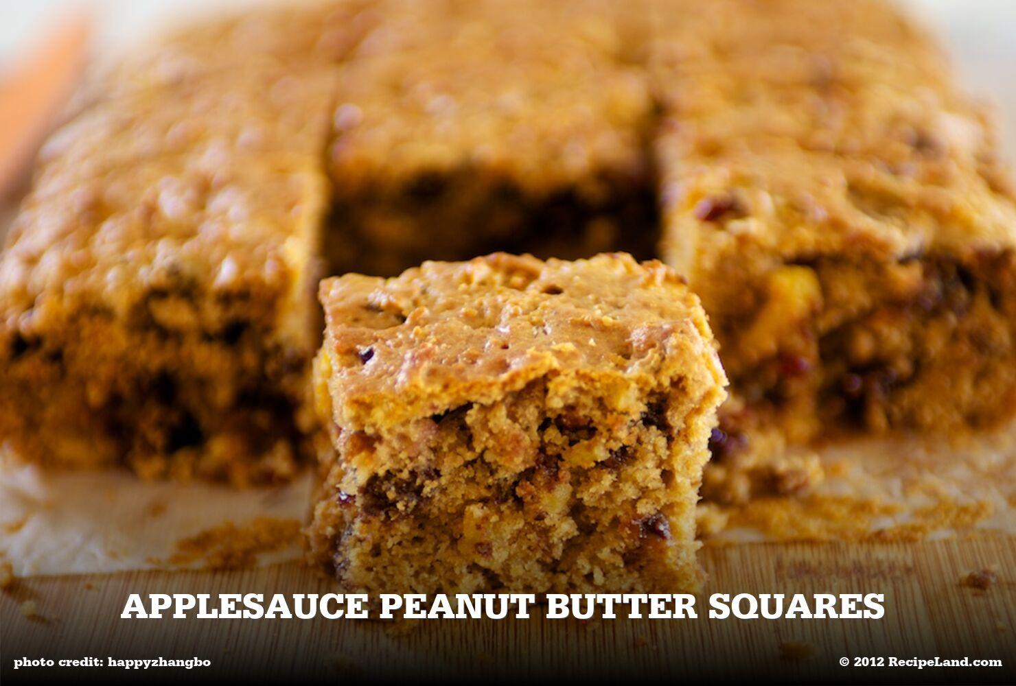 Applesauce Peanut Butter Squares
