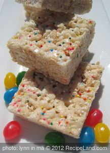 White Chocolate Chip Krispie Squares
