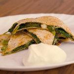 Spinach Whole Wheat Quesadillas
