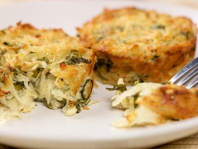 Basil Potato Latke Muffins