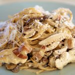 Fettuccine with Shiitake Sauce and Chicken
