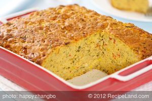 Cheesy Basil Corn Bread
