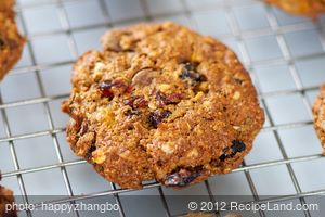 Dried Fruits, Chocolate Chips and Flaxseed Cookies