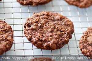 Double Chocolate Mocha Cookies