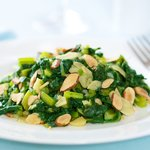 Sauteed Beet Greens with Toasted Almonds