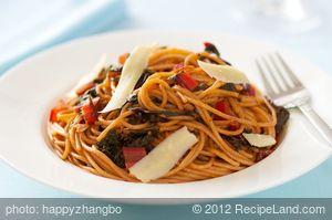 Pasta with Chard, Garlic and Parmesan
