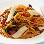 Pasta with Chard, Garlic and Parmesan