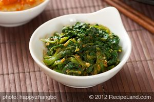 Spicy-Soy Spinach Salad