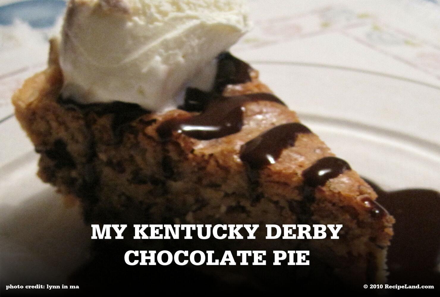 My Kentucky Derby Chocolate Pie