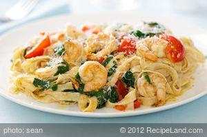 Shrimp Sauce with Linguine