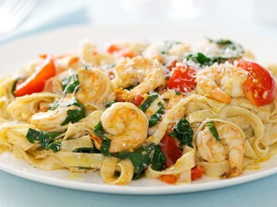 Shrimp Sauce with Linguine