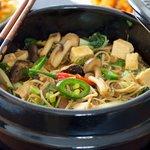 Korean Mushroom-Bok Choy Stew with Soba
