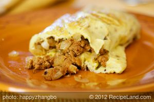 Chrissy's Eggs and Chorizo Omelette