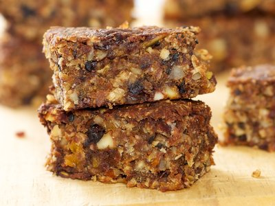 Fruity-Nutty Banana, Chocolate Granola Bars
