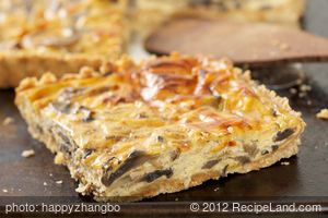 Amazing Sour Cream Mushroom Quiche
