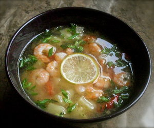 Pineapple and Shrimp Tom Yum Soup