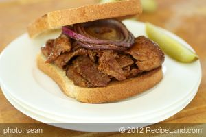 Barbecued Flank Steak Sandwiches