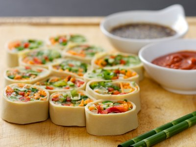Veggie Tofu Sheet Rolls