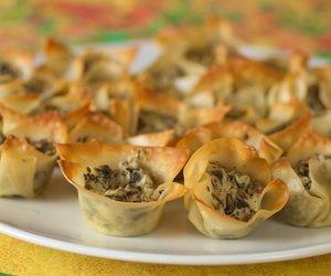 Chevre and Portabello Mushroom Tarts
