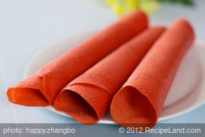 Strawberry, Rhubarb and Pineapple Fruit Leather