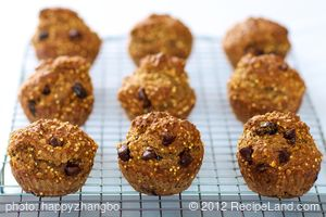Banana, Oats, Millet and Chocolate Chip Muffins