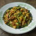 Banda Kopir Tarkari (Vegetables Stir Fried with Spices)