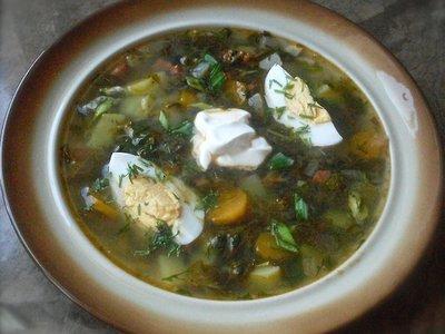 Sorrel Soup with Chorizo