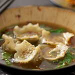 Veggie Jiao Zi (Chinese Dumpling) Soup