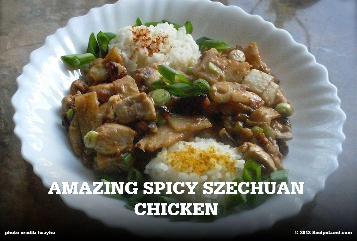 Amazing Spicy Szechuan Chicken