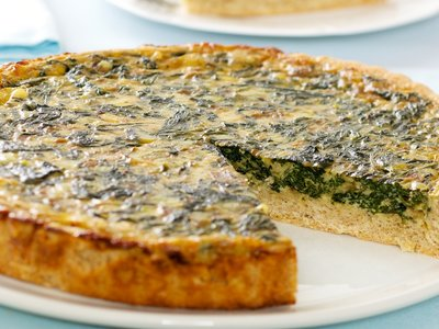 Light Spinach Quiche
