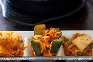 Bibimbap2 (Korean Seasoned Vegetables and Rice with Spicy Sauce)