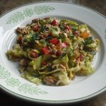 Spring Cabbage with Bacon and Chorizo