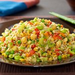 Veggie and Rice Salad with Soy-Maple Dressing
