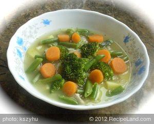 Lentil Soup with Steamed Vegetables