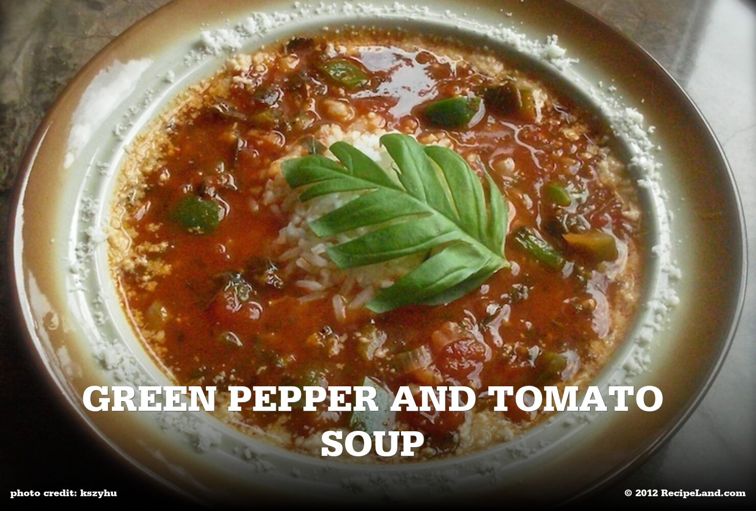 Green Pepper and Tomato Soup