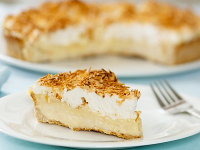 Decadent Coconut Cream Pie with Meringue Topping
