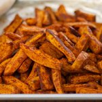 Oven Baked Sweet Potato Fries with Chipotle Yogurt Dip