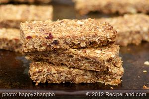 Almond, Peanut Butter and Dried Fruits Granola Bars