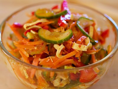 Korean Sweet-Sour Cucumber Salad