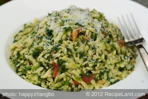 Orzo with Spinach and Pine Nuts (Milliken and Feniger)