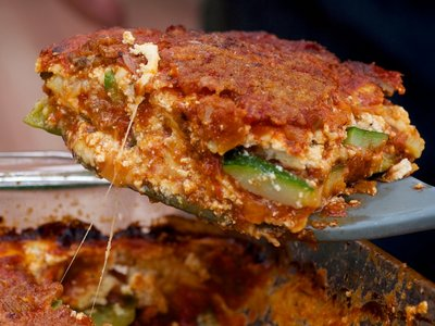 Baked and Herbed Zucchini and Ricotta
