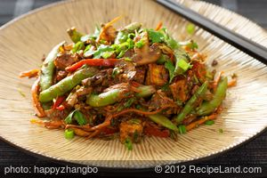 Sugar Snap Pea, Mushroom and Tofu Stir-Fry